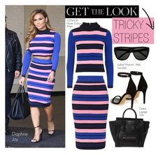 """Get the Look: Tricky Stripes"" by eraining ❤ liked on Polyvore featuring CÉLINE, Isabel Marant and Yves Saint Laurent"