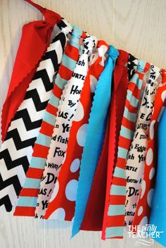 Dr. Seuss Fabric Tie Garland