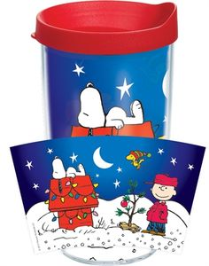 3032efe42356f Peanuts™ - Holiday Scene Wrap with Lid - 16oz tumbler Tervis Tumbler