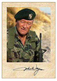 John Wayne - Internet Movie Firearms Database - Guns in Movies, TV and Video Games John Wayne Quotes, John Wayne Movies, Art Football, Hollywood Men, Actor John, Green Beret, Internet Movies, Special Forces, Special Ops