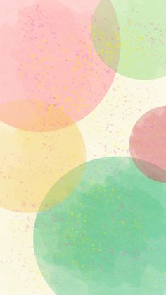 Pink Green Watercolour dots spots spheres circles iphone wallpaper phone background lock screen