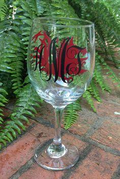 SC Gamecock wine glass