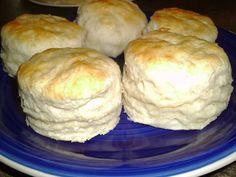 "Janet's Appalachian Kitchen ""Hand-Rolled"" Biscuits...  3 c. Self-Rising Flour,  1/2 c. Lard (lard = flakier),  pinch Sugar Buttermilk melted Butter..."
