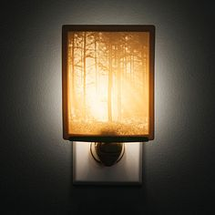 Look what I found at UncommonGoods: woodland sunbeams lithopane nightlight... for $25 #uncommongoods