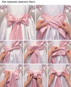 Como hacer un lazo al vestido de comunion
