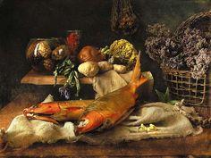 Натюрморты с рыбой фото