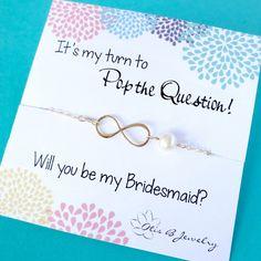 Be my bridesmaid bridesmaid gift Infinity por OtisBJewelryGifts