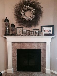 love this for the fireplace mantel mantels pinterest Frames above Fireplace Fireplace Decor Ideas with Old Window Above