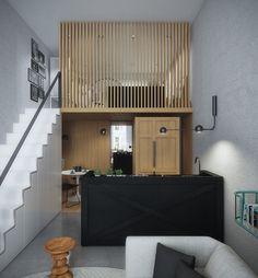 Small kitchen design with modern interior