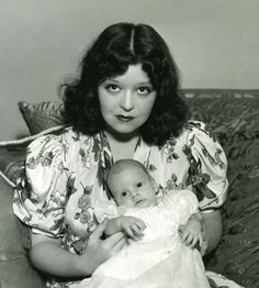 Clara Bow and her son, George, 1938.