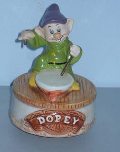 Vintage Disney Snow White & The Seven Dwarfs Dopey Music Box