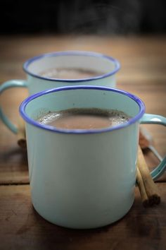 Healthier hot chocolate for those cold winter nights. Nutrition per serving: Calories: 93, Protein: 5.6g, Total fat: 2.2g, Saturated: 1.4g, Carbohydrates: 13.2