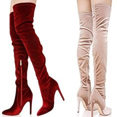 ALEPH COLLECTION is an online store that offers fashionable and trendy clothing and accessories for women. Trendy Outfits, Velvet, Heels, Boots, Clothes, Accessories, Collection, Women, Fashion