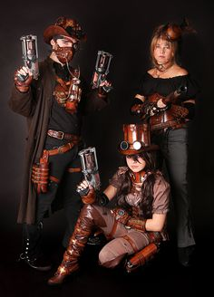 steampunk familly by Lagueuse.deviantart.com on @deviantART