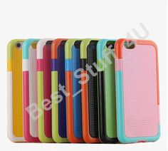 Hybrid Colourful TPU GEL Soft Back Case Cover Apple iPhone 6_4,7  FREE PROTECTOR