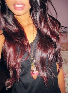 red ombre, I realllllly want to do this once my hair gets long enough