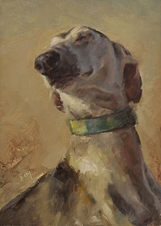 Smooth Saluki by Kathleen Coy Oil ~ 7 x 5