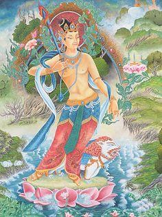 Bodhisattva Manjushri #buddhismo #religione #meditazione