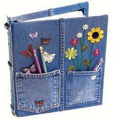 Recicla: Descubre como hacer bolso y cartera con jean viejos
