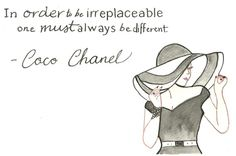 Drawing Chanel Quote by Jessica Turnbow