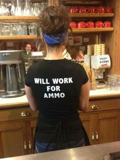 Since the government will most likely take away our gun rights, a girls gotta do what a girls gotta do...