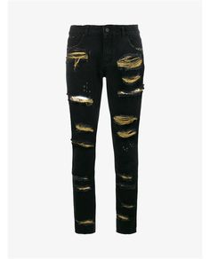 Distressed Jeans With Gold Threading Filles A Papa  Source: http://www.closetonthego.com/e-shop-product/177780/distressed-jeans-with-gold-threading/ © Closet On The Go