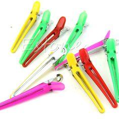 10 Pz Colorful Parrucchiere clip di Sezionamento Morsetti Per Lo Styling Dei Capelli Grip Hot
