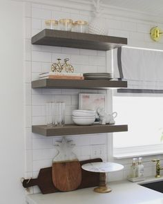 Strong floating shelves that work in any kitchen, living room, entertainment system and bathroom. They are modern and easy to install. Each shelf is made for you. Custom sizing, custom cut in length and depth makes Shelfology shelves the answer. DIY ready for all your floating, open shelf projects.