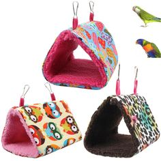 Home & Garden Obedient Winter Warm Windproof Soft Pet Bird Hanging Cave Cage Tent Bed Hammock For Parrots Birds Hamster
