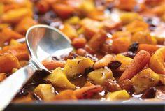 Roasted Sweet Vegetables in Spicy Cinnamon Cider #roshhashana