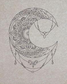Beautiful moon mandala pattern  Credit : https://www.instagram.com/phebemayryder/