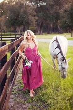 MADISON | JACKSONVILLE SENIOR PHOTOGRAPHER | Jacksonville Senior Photographer… Senior photos with a horse