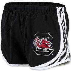 South Carolina Gamecocks Ladies Zebra Stripe Running Shorts #gamecocks