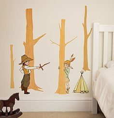Cowboys And Indians Wall Stickers - childrens room accessories