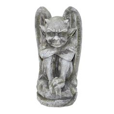 Features:  -Hand painted.  -Cast in quality designer resin.  Product Type: -Statue.  Color: -Gothic stone.  Style: -Traditional.  Material: -Resin/Plastic.  Theme: -Gargoyle. Dimensions:  Overall Heig