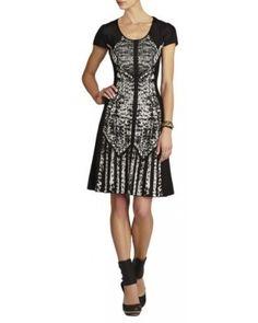 Bcbg Maxazria Kristal Black Combo Dress
