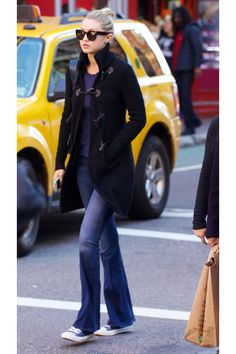 It's In the Jeans: Inspiring Celebrity Denim; Coat with Jeans