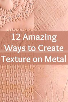 Creating texture on metal is easier than you think with expert Helen Driggs' 12 ways to create texture on metal! – metal of life Metal Embossing, Metal Stamping, Jewelry Stamping, Metal Projects, Metal Crafts, Aluminum Crafts, Metal Tree Wall Art, Metal Art, Grabar Metal