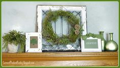 Corner of Plaid and Paisley: St. Patrick's Day 2013 Mantel