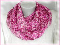 Loop, Rundschal, feiner Chiffon, pink-dunkelpink von Alpen-Juwel auf DaWanda.com