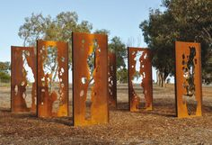 Sculpture Studio specialising in Corten Steel: Corten Steel . Concrete Sculpture, Steel Sculpture, Weathering Steel, Outdoor Signage, Artistic Installation, Steel Art, Wayfinding Signage, Garden Landscape Design, Contemporary Landscape