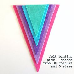 Felt Bunting, Shops, Colours, Cards, Etsy, Shopping, Tents, Maps, Retail Stores