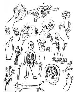 stick n poke Tattoo Sketches, Tattoo Drawings, Body Art Tattoos, Small Tattoos, Tatoos, Illustration Photo, Illustrations, Stick Poke Tattoo, Handpoke Tattoo