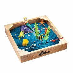 Wooden Sandbox, Sandbox Sand, Mermaid Glitter, Mermaid Beach, Mermaid Style, Colored Sand, Creative Play, Little Boxes, Good Company