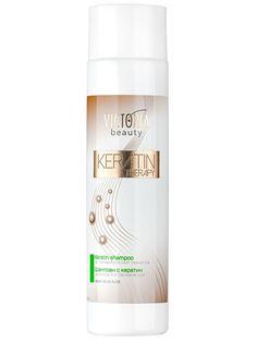 Sampon regenerant cu keratina Keratin Therapy - 300 ml - Keratina este principalul component din structura parului. Produsele cosmetice pentru coafat, cu ingredienți chimici, inlătura aceasta proteina fibroasa din structura firului de par. Tratamentul cu keratina reechilibreaza nivelul acestei proteine, pentru a reda parului stralucirea. Victoria Beauty, Keratin Shampoo, Therapy, Personal Care, Self Care, Personal Hygiene, Healing
