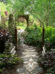 Beautiful garden gate, but look closely...take notice of the garden path. What do you think? via @oregonian