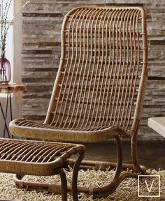 living room side chair. // Anders High Back Wicker Chair
