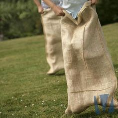 Hessian sacks made from jute - great for sack races, liners for raised beds and planters, storing potatoes and Santa sacks. Burlap Sacks, Jute Sack, Hessian, Jump Bag, Sack Race, Holiday Program, Cowboy Party, Sports Day, Field Day