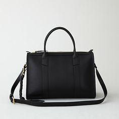 lotuff leather zipper satchel
