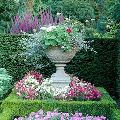 Urn, hedge, layering. The Garden Aesthetic